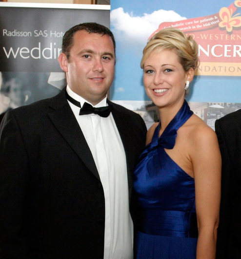 Jason Corbett and Molly Martens pictured at a function in Ireland in 2009