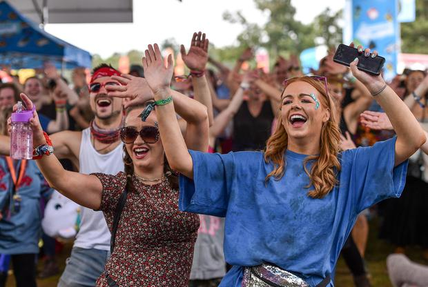 Festival-goers at the Throwback Stage during the last Electric Picnic in 2019 at Stradbally in Laois