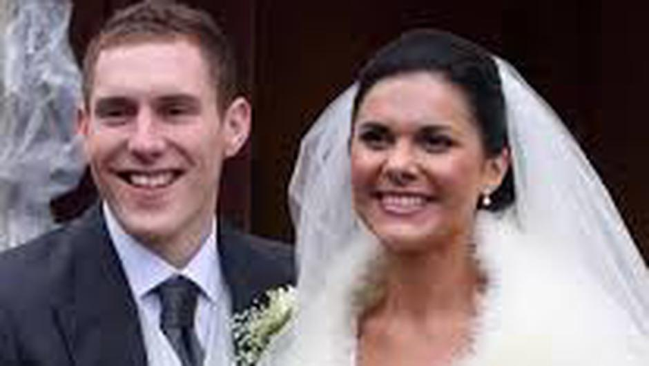 John and Michaela pictured on their wedding day in December 2010