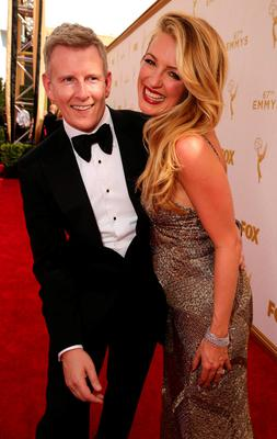 Patrick Kielty with his wife Cat Deeley. The comedian talks to Mary McAleese on RTÉ's All Walks of Life. Photo: Eric Charbonneau