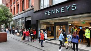 Queues at the reopening of the Penneys Store on Mary Street last year. Photo: Steve Humphreys