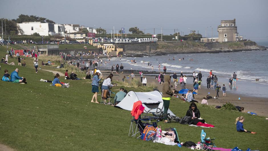 People pictured enjoying the fine weather at Portmarnock Beach...Picture Colin Keegan, Collins Dublin