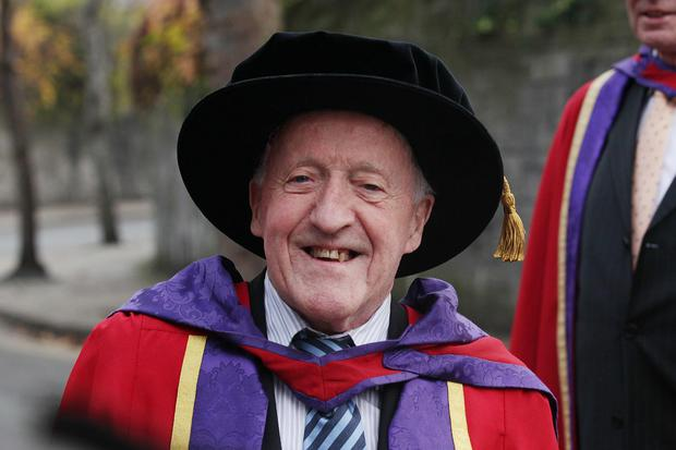 DIT conferred honorary doctorate to The Chieftains music legend Paddy Moloney in 2013 at St Patrick's Cathedral, Co Dublin. Photo: Stephen Collins/Collins Photos