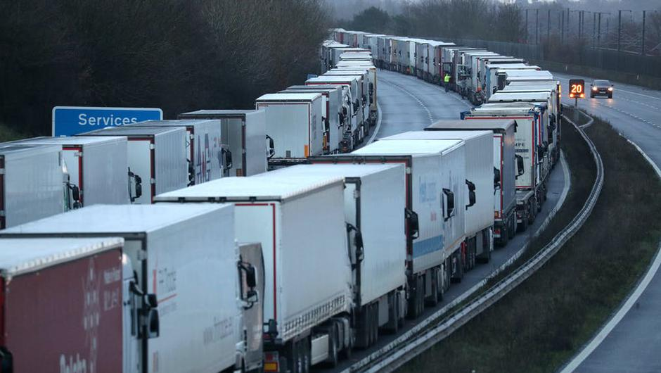 Hauliers traveling from Britain to France are already required to provide clear tests