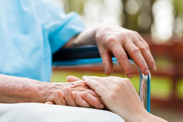 Nursing home. Stock picture