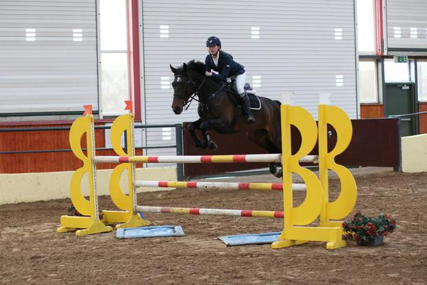 Robyn Kelly competing with Ecapitola at the Cavan Spring Championships earlier this year. Photo: Jim Prime