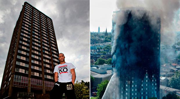 James DeGale trained in a gym housed in Grenfell Tower