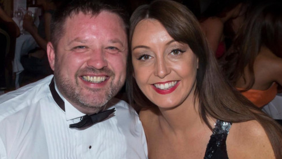 Zoe with her late husband Brian.