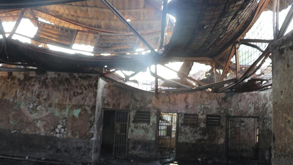 Block C2 prison is pictured following a fire overnight at an overcrowded jail in Tangerang on the outskirts of Jakarta, Indonesia, September 8, 2021