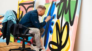 Artist Maser who is to stage his first exhibition in a major gallery in Ireland. PA Photo.