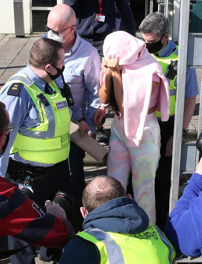 Niamh Mulreany leaving Tallaght District Court on Saturday. Photo: Collins Court.