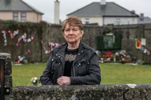 11.01.21 Historian Catherine Corless standing at the site of the Tuam Mother and Baby Home where her research led to the setting up of the Commission of Investigation into Mother and Baby Homes. Photo Andy Newman