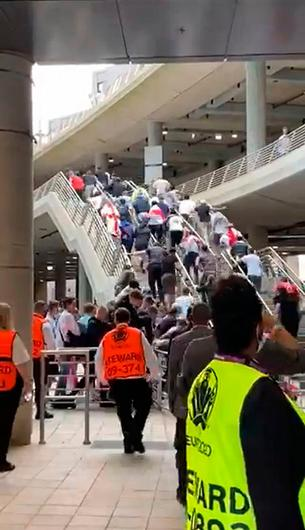 England fans - some of them ticketless - break Wembley barriers