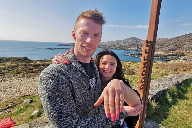Blue Cassidy who proposed to his girlfriend Maria Gilvanda at Dooneen, west Cork.