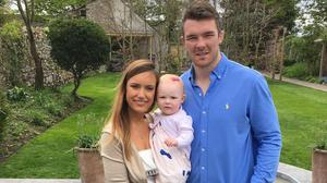 Jessica and Peter with their daughter Indie before son Theo and newest addition Ralph were born.