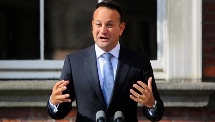 Tánaiste and Minister for Enterprise, Trade and Employment, Leo Varadkar, speaking following a Cabinet meeting at Dublin Castle. Picture: Collins