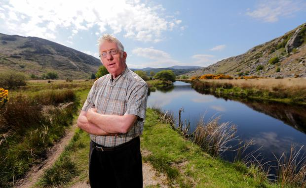 Sean Byrne pictured on his land around Lough Dan in Co Wicklow where he has had problems with trespassers camping on his land (Picture: Gerry Mooney)