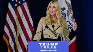 Ivanka Trump speaks during a campaign event in Iowa in November. Photo: AP
