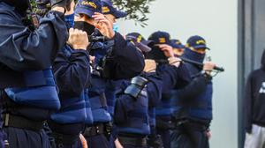 Up to 200 gardaí will be on patrol in Dublin city centre tomorrow to avoid a repeat of February's lockdown clashes. Photo: Damien Storan