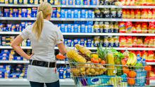 Filling up the cupboards: People have taken to stockpiling essentials in the face of the virus outbreak (stock photo)