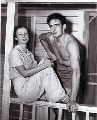Jack Doyle with Judith Allen, his first wife