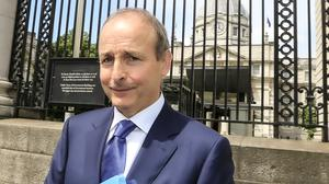 Ambitious plan: Fianna Fáil leader and Taoiseach-in-waiting Micheál Martin leaving after talks concluded on forming a programme for government. Photo: Gerry Mooney