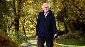 Filmmaker John Boorman in the gardens of his home in Annamoe, Co Wicklow Photo: Frank McGrath