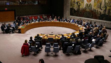 TALKING SHOP: The UN Security Council in session in February, before the pandemic. Photo: Carlo Allegri/Reuters