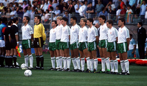 The Republic of Ireland squad in Italy 1990. Photo: Ray McManus/Sportsfile