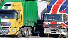 RED LORRY, GREEN LORRY: The form of hard Brexit now apparently in prospect mitigates only the negative impact on North-South trade — and is dwarfed by the potential damage to trade with Great Britain and the disruption to Continental surface transport routes