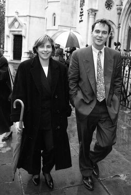 Alan Ruddock with his wife Jackie in London in 1996, when he was sued for libel by Albert Reynolds over a Sunday Times article