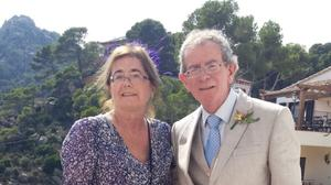 Four decades of bliss... Finbar and Kathleen in happier times