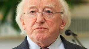 President Michael D Higgins alienated the US presidential candidate Donald Trump and then paid tribute to Fidel Castro