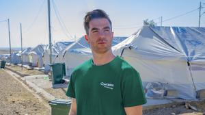 CAMPS: Michael Darragh MacAuley in north-west Iraq. Picture: Gavin Douglas/Concern