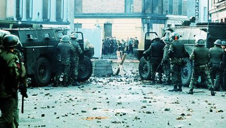 Bloody Sunday in Derry 1972 when members of the British Army's Parachute Regiment opened fire on a civil rights march in the city. Photo: Pacemaker Press