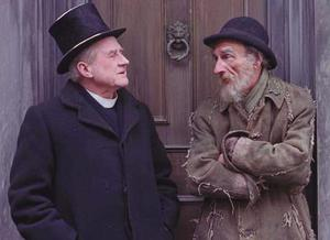 STRUMPET CITY: James Plunkett's book – dramatised by RTE in a series starring Cyril Cusack, left, as Father Giffley and David Kelly as Rashers Tierney – romanticised the era and gave a sanitised picture of early 20th-Century life in Dublin