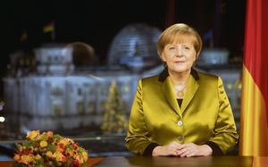 German Chancellor Angela Merkel delivers her new year message.
