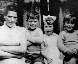 Jean McConville and three of her children before she vanished in 1972