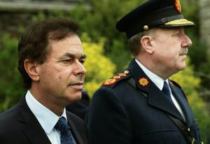Justice Minister Alan Shatter and Garda Commissioner Martin Callinan.