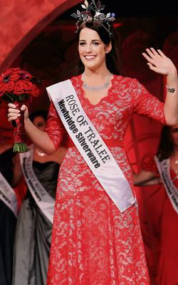 Luxembourg Rose Nicola Mc Evoy who was last night crowned as the 2012 Rose of Tralee at The Dome in Tralee Co Kerry.  Pic Steve Humphreys  21st August 2012.