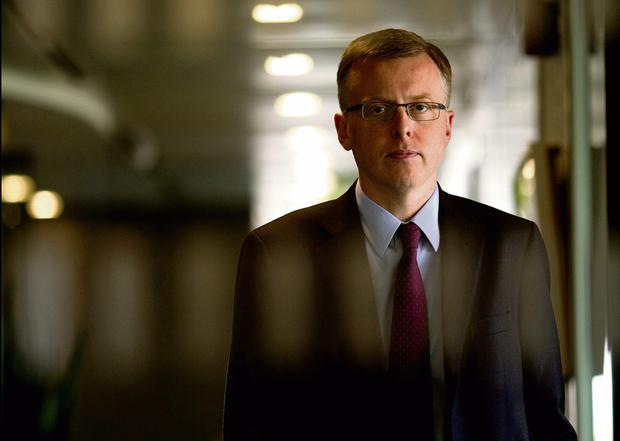 Mathew Elderfield, deputy governor of the Central Bank pictured for Sunday Independent. Picture; GERRY MOONEY. 24/5/13