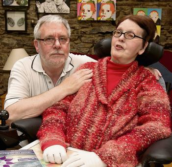 Marie Fleming with her partner Tom Curran at at their home in Co Wiclkow Pic:Mark Condren 3.5.2013