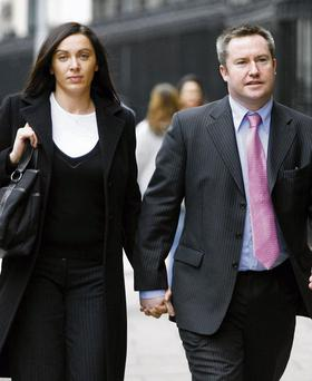 Michael Lynn arrives at court, with his wife Brid, in 2007