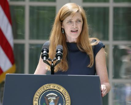 Samantha Power: strong advocate for early military intervention to prevent genocide