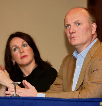 ANTI-ABORTION RHETORIC: Declan Ganley at the Alternatives for Ireland meeting at Dublin's Davenport Hotel, where more than 80 per cent of the audience seemed to be part of the 'pro-life' lobby and had no apparent interest in changing the face of Irish politics.