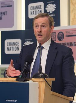14/6/2013; Taoiseach, Enda Kenny, T.D., speaks at the Change Nation 2013 conference at Farmleigh house in Dublin. Picture credit; Damien Eagers / Irish Independent