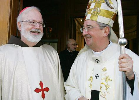 CHURCH INTERVENTION: Cardinal Sean O' Malley, left, with Archbishop Diarmuid Martin, has been outspoken on abortion