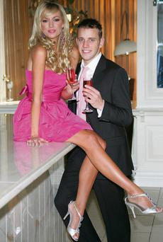 WEDDING BELLS: Wes Quirke and former Miss World Rosanna Davison got engaged in January this year.
