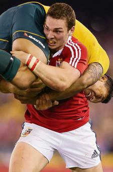 One of the biggest cheers during the second test was for the sight of Wales winger George North throwing Australian Israel Folau over his back like a sack of potatoes and surging up the field