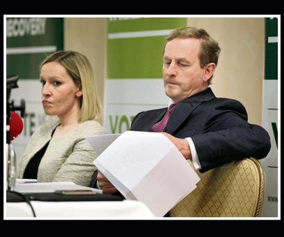 Taoiseach Enda Kenny with Minister for European Affairs Lucinda Creighton